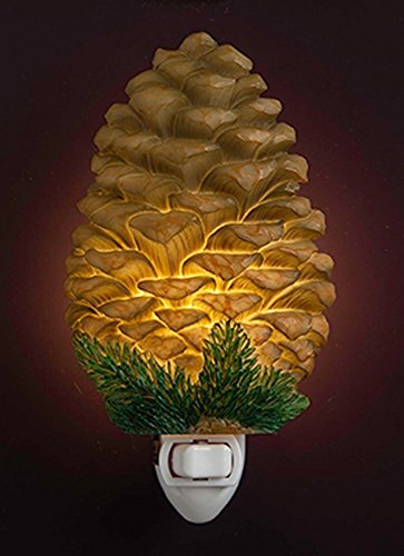 Evergreen Pinecone 3 x 6 Inch Bonded Marble Electric Wall Plug-In Night - Reviews Pinecone
