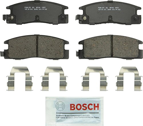(Bosch BP398 QuietCast Premium Semi-Metallic Disc Brake Pad Set For Isuzu: 1989-1993 Amigo, 1989-1995 Pickup, 1988-1991 Trooper; Rear)