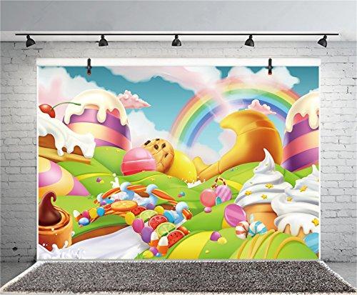 AOFOTO 5x3ft Fantasy Candy Land Landscape Background Cartoon