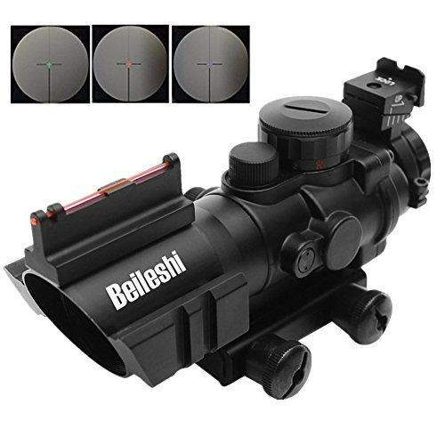 Beileshi-Optics-4x32-RedGreenBlue-Triple-Illuminated-Rapid-Range-Reticle-Rifle-Scope-with-Top-Fiber-Optic-Sight-and-Weaver-Slots