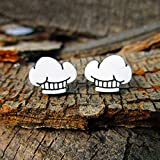 Cute Little Chef Hat Pendant Stud Earrings, Gift for Home Cook Baker Sous Chef, Hypoallergenic