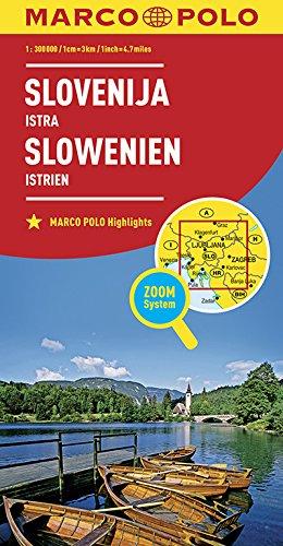 Marco Polo Slovenie Istrie Wegenkaart 1 300 000 Dutch Edition