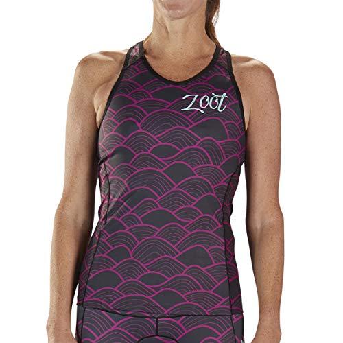 Zoot Women's LTD Racerback Tri Tank - High Performance Triathlon Tank Top (Aloha '19, Medium) ()