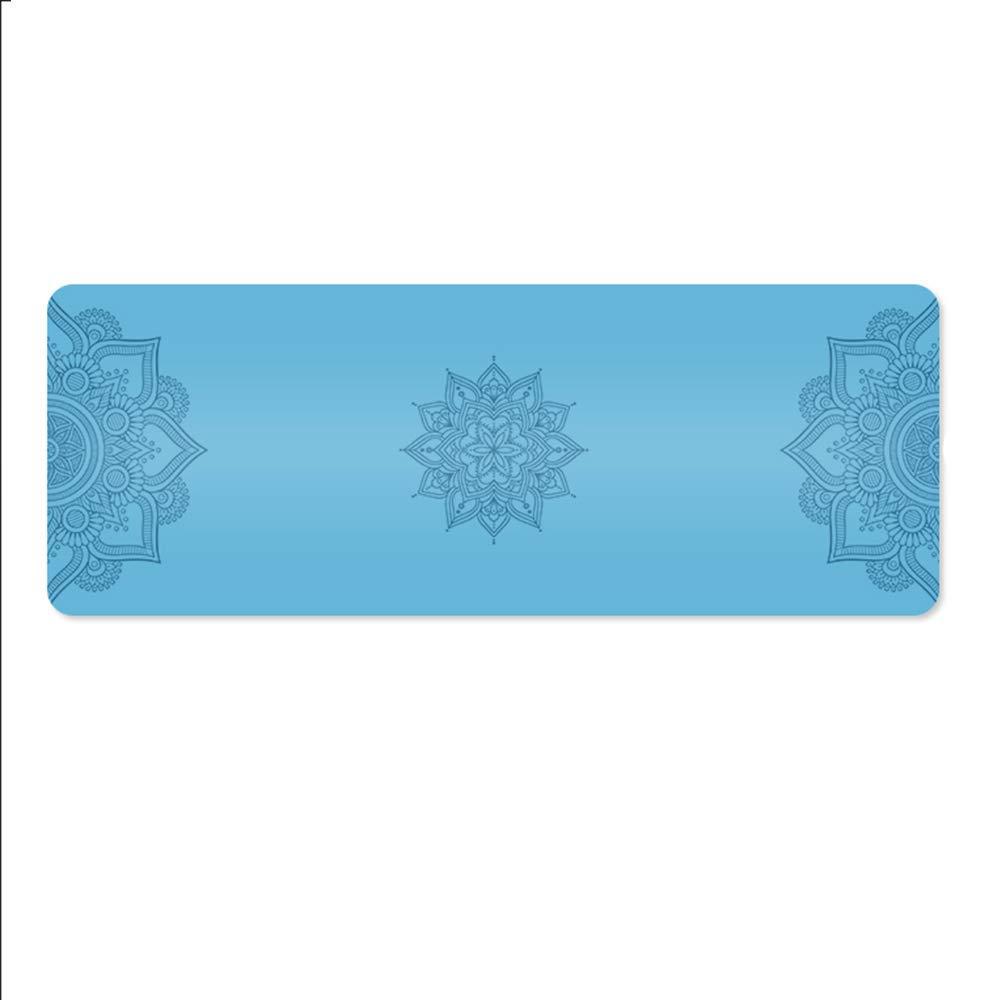 Pang Pang Yoga-Matte - Naturkautschuk, lang, rutschfeste Yoga-Matte mit einzigartigem Ausrichtungsmarkersystem , Anfänger und Anfänger Yoga Dance Fitness Multifunktions-Übungsmatte, Bodenmatte, Größe