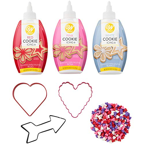 Wilton Valentine's Day Cookie Cutter and Decorating Set, -
