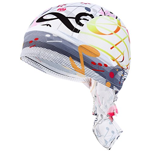 VBIGER Sweat Wicking Beanie Skull Cap Quick Dry Adjustable Cycling Hat Wrap RAG Men Women (X-Color 2)