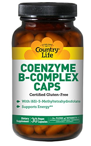Country Life - Coenzyme B-Complex with Methylfolate - 30 Veg