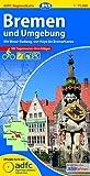ADFC-Regionalkarte Bremen und Umgebung mit Tagestouren-Vorschlägen, 1:75.000, reiß- und wetterfest, GPS-Tracks Download: Mit Weser-Radweg, von Hoya bis Bremerhaven