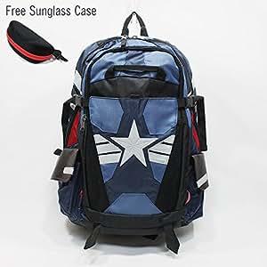 Marvel Comics Captain America Laptop Backpack The Winter Soldier Suit Up Better Built