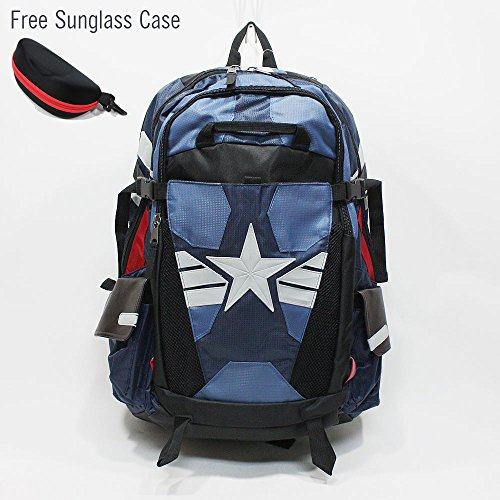 Marvel Comics Captain America Laptop Backpack The Winter Soldier Suit Up Better Built
