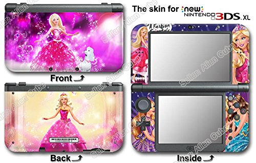 Barbie Charm Fashion Pink Girls Skin Sticker Cover Decal for NEW Nintendo 3DS ()
