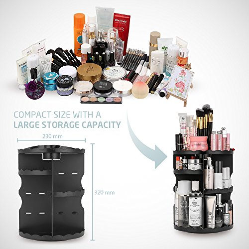 Jerrybox 360 Degree Rotating Makeup Organizer Adjustable