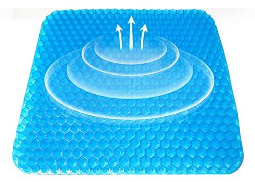 Cojín De Coxis Ortopédico con Gel Almohada De Cintura En Gel. Reversible, funda extraíble hipoalérgena lavable, diseñado médicamente para la ...