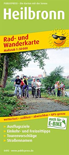Heilbronn: Rad- und Wanderkarte mit Ausflugszielen, Einkehr- & Freizeittipps, Straßennamen, wetterfest, reißfest, abwischbar, GPS-genau. 1:50000 (Rad- und Wanderkarte / RuWK)