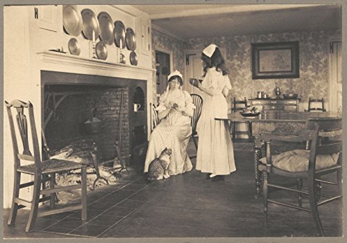 Colonial Costumes Massachusetts (Colonial houses - three chums)