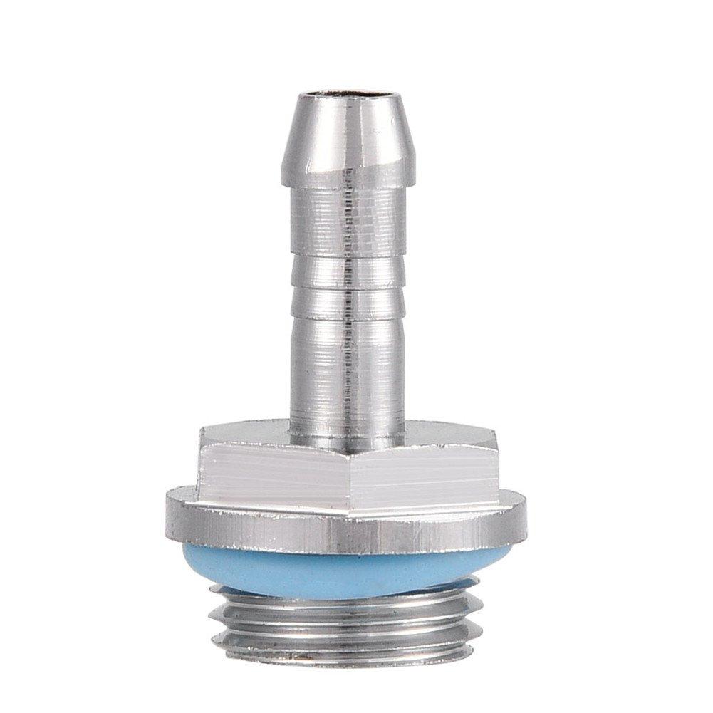 7.2mm Acero Inoxidable 4 de Dos toques de enfriamiento por Agua para Tubo Bewinner Barb Fittings 6 PCS Conector de Rosca de Rosca G1