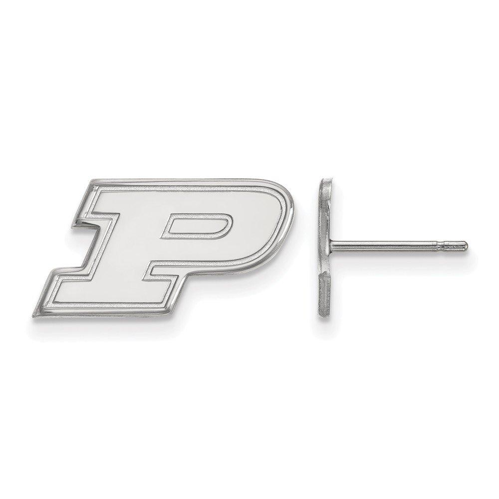 Collegiate Purdue University Sterling Silver LogoArt Purdue XS Post Earrings