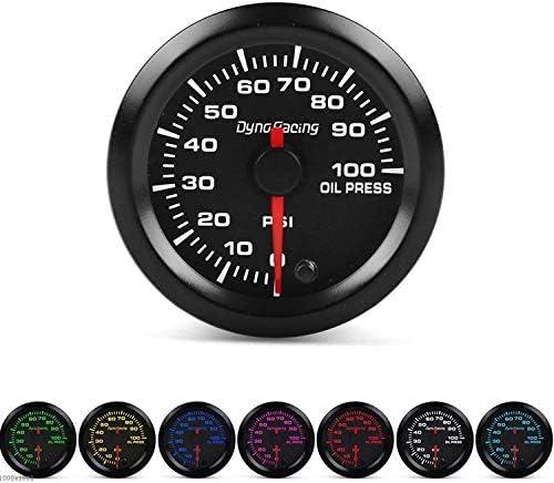"""Luckya 2"""" 52ミリメートル7色の車のトラックのボートのためのLED車のオイルの圧力計0-100PSIオイルを押してメーターハイスピードモーター"""