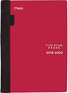 """Five Star Student 2019-2020 Academic Year Weekly & Monthly Planner, Small, 5-3/4"""" x 8-1/2"""", Advance, Red (CAW45013)"""