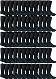 Bulk Case of WSD Mens Dress Socks, Textured Cotton Premium Knit, 36 or 60 Pairs (60 Pairs Navy)