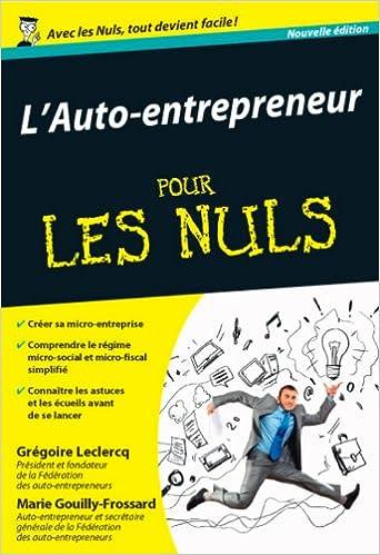 Amazonfr Lauto Entrepreneur Pour Les Nuls Poche 2e Marie