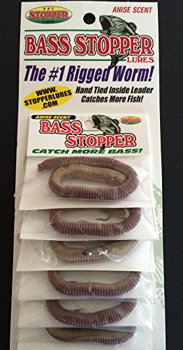 Buy natural bass fishing worms
