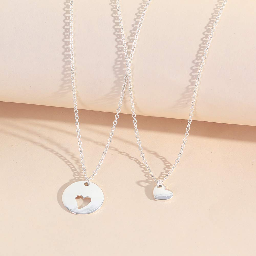 Loweryeah Lady's Hollow Heart Pendant Double Layer Necklace Mother's Day gift by Loweryeah (Image #5)