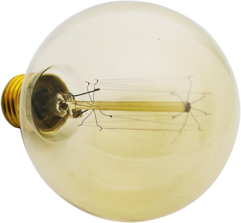 E27 40.00W 220.00V G 80 220 V 80 mm Typ: A lampadina a incandescenza Edison vintage 40 W lampadina decorativa retr/ò E 27