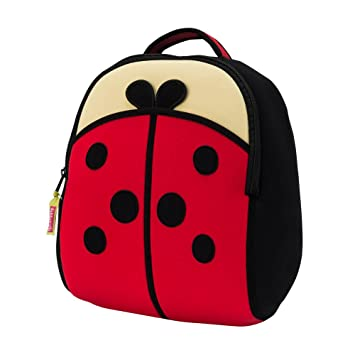 50a8cc790f48 Image Unavailable. Image not available for. Color  Dabbawalla Bags Cute as  a Bug Ladybug Kids  Preschool   Toddler Backpack Red Black