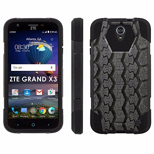ZTE Uhura Grand X3 Z959 [Warp 7] Phone Cover, Tire Tracks – Black Hexo Hybrid Armor Phone Case for ZTE Uhura Grand X3 Z959 [Warp 7]