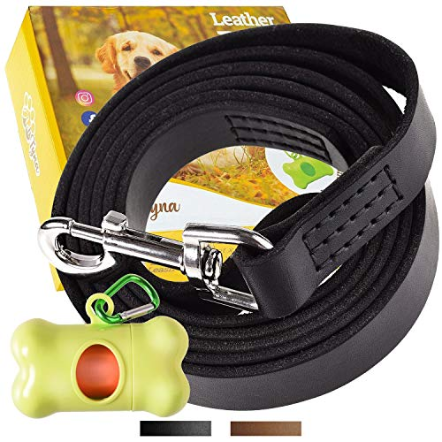 ADITYNA Leather Dog Leash Foot