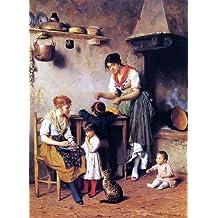 """Eugene De Blaas Mother's Little Helper - 21.1"""" x 28.1"""" Peel & Stick Removable Wall Decal"""