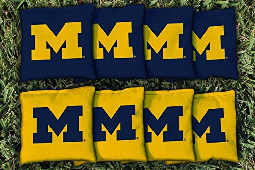 NCAA Michigan Wolverines Unisex 827716Cornhole Bag Set (Corn Filled), Multicolor, One Size
