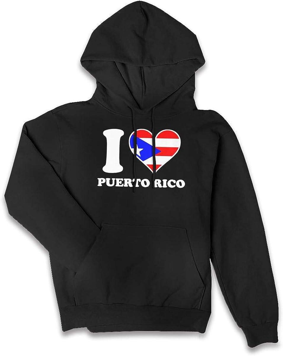 Puerto Rican Flag Womens Jacket Pullover Tops Pocket Hoodie Top