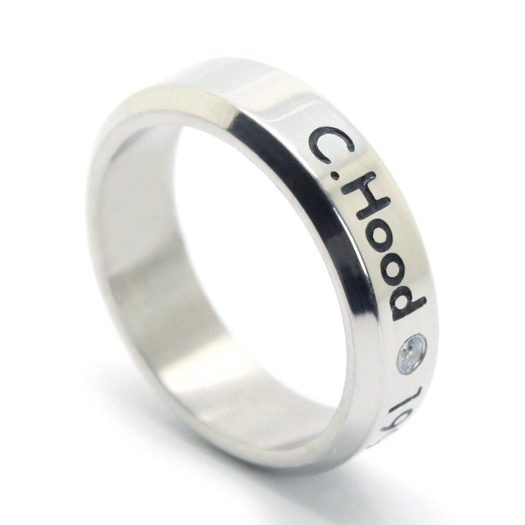 Fanstown Hood handmade titanium birthday ring necklace