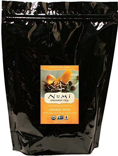(Numi Organic Tea Orange Spice, 16 Ounce Pouch, Loose Leaf White Tea (Packaging May Vary))