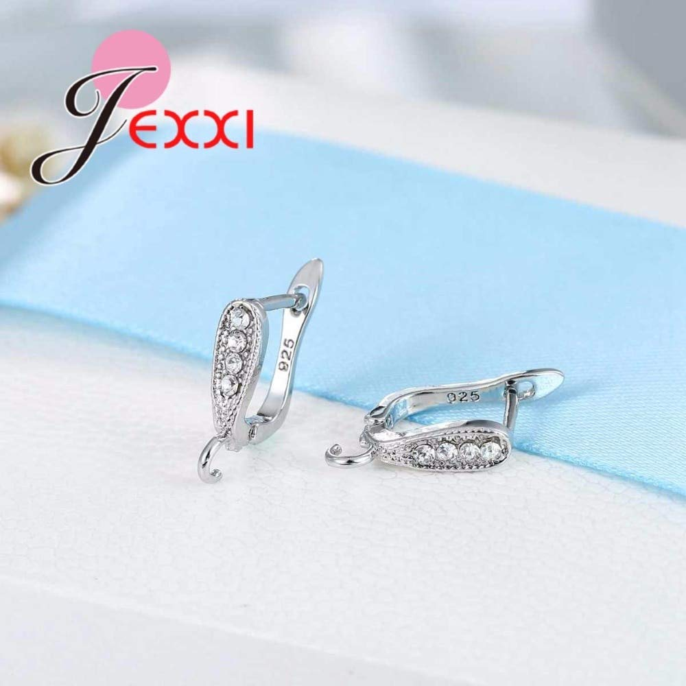 Factory Price Fashion 925 Sterling Silver Hoop Earrings Components For DIY Jewelry Accessory Hook Ear Wire Earring Finding Laliva Accessories