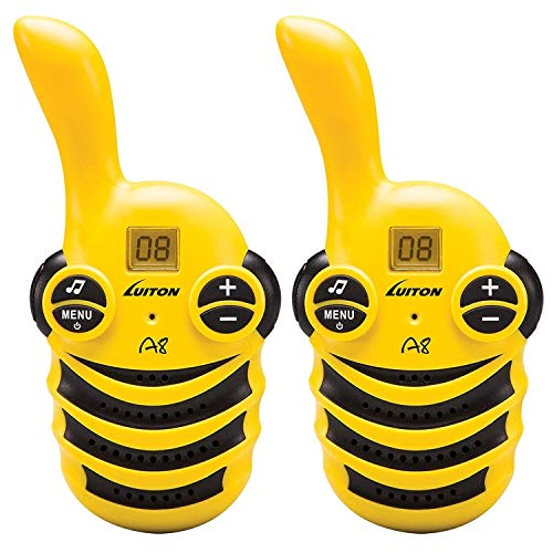 Walkie Talkies for Kids Rechargeable Toys for Boys and Girls Birthday Gifts Two Way Radio Long Range Adventures Set Camping Hiking LUITON A8 (1 Pair)