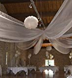 décor plafond organza déco Mariage vélum,largeur 150cm tissu souple ,fluide,décoratif