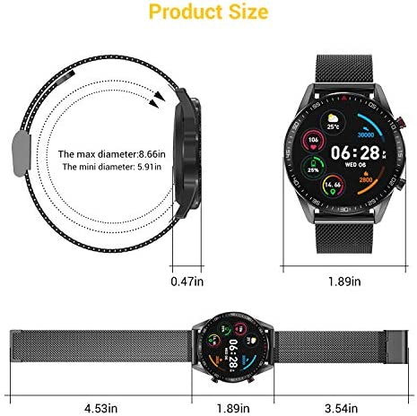 "Tagobee Smart Watch for Android IOS Phones,Upgraded Bluetooth Smartwatch Fitness Tracker for Men Women,IP67 Waterproof 1.3""Touch Screen Sport Fitness Watch with Heart Rate Sleep Monitor Blood Pressure"