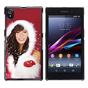 YOYO Slim PC / Aluminium Case Cover Armor Shell Portection //Christmas Holiday Sexy Hot Girl Woman 1023 //Sony L39