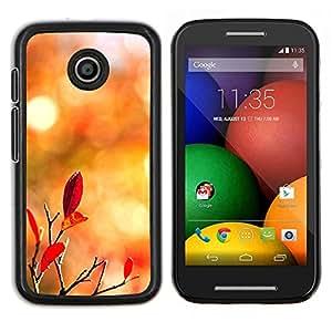 For Motorola Moto E Case , Naturaleza de Lonely Castle Rock- Diseño Patrón Teléfono Caso Cubierta Case Bumper Duro Protección Case Cover Funda