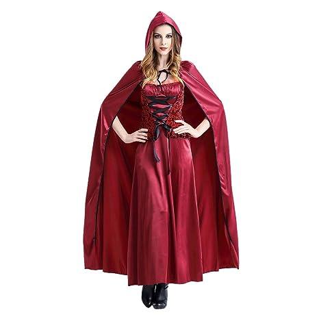 Fossenfeliz Disfraz de Caperucita Roja Mujeres Divertido ...