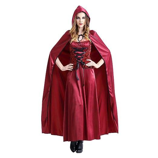 Goosun Disfraz Halloween Caperucita Roja Mujer Cosplay ...