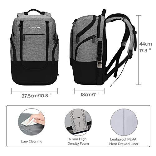 Bolsa-de-Almuerzo-22L-Cooler-Backpack-24-Cans-Cooler-Bag-Gris miniatura 2