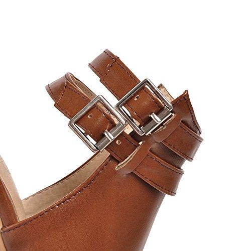 Adee Ladies ankle-cuff Sandalias de poliuretano Sandalias Marrón - marrón