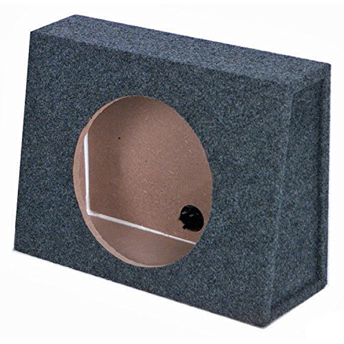 Q Power 12-Inch Sealed Slim Shallow Truck Subwooofer Box Enclosure | TW12-SINGLE by Q Power