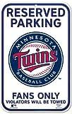 Reserved Parking Minnesota Twins 11 x 17 Parking Sign