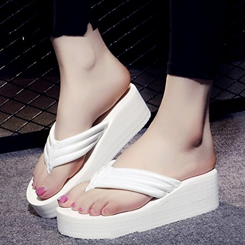 Zapatillas Resbalón sandalias de del impermeables Cómodo los manera Zapatillas la gruesas deslizadores atractivas Sandalias personalidad C atractivas las con femenino 4 color verano de la flops Flip de 6RRIqxEz