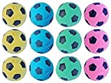 MAGIKON 12pcs Foam/Sponge Soccer Ball Cat Toy, Interactive Cat Toys, Pet Kitten Cat Exrecise Toy Balls for Real Cats Kittens, Soft/Bouncy/Noise Free